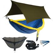 ENO DoubleNest OneLink Sleep System - Sapphire/Yellow With Olive Profly