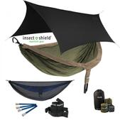 ENO DoubleNest OneLink Sleep System With Insect Shield Treatment - Khaki/Olive With Guardian SL & Black Profly