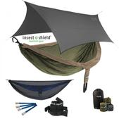 ENO DoubleNest OneLink Sleep System With Insect Shield Treatment - Khaki/Olive With Guardian SL & Grey Profly