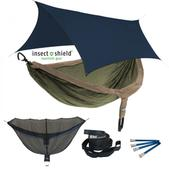 ENO DoubleNest OneLink Sleep System with Insect Shield Treatment - Khaki/Olive With Navy Profly