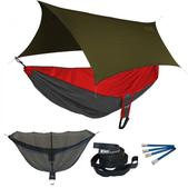 ENO Reactor OneLink Sleep System - Red/Charcoal With Olive Profly