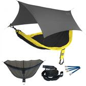 ENO SingleNest OneLink Sleep System - Black/Yellow With Grey Profly