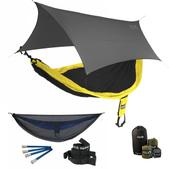 ENO SingleNest OneLink Sleep System - Black/Yellow With Guardian SL & Grey Profly