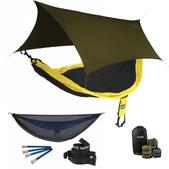 ENO SingleNest OneLink Sleep System - Black/Yellow With Guardian SL & Olive Profly