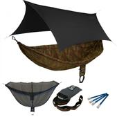 ENO SingleNest OneLink Sleep System - CamoNest Forest Camo With Black Profly