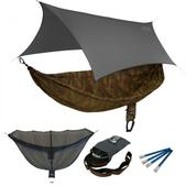 ENO SingleNest OneLink Sleep System - CamoNest Forest Camo With Grey Profly
