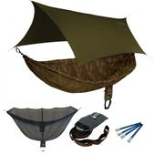 ENO SingleNest OneLink Sleep System - CamoNest Forest Camo With Olive Profly