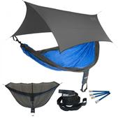 ENO SingleNest OneLink Sleep System - Charcoal/Royal With Grey Profly