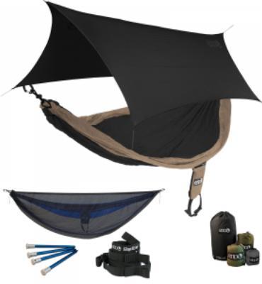 ENO SingleNest OneLink Sleep System - Khaki/Black With Guardian SL & Black Profly
