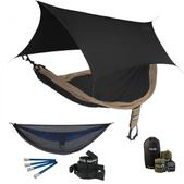 ENO SingleNest OneLink Sleep System - Khaki/Black With Guardian SL & Black Profly