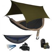 ENO SingleNest OneLink Sleep System - Khaki/Black With Guardian SL & Olive Profly