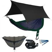 ENO SingleNest OneLink Sleep System - Navy/Forest With Black Profly