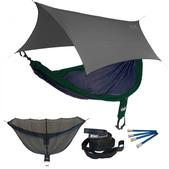 ENO SingleNest OneLink Sleep System - Navy/Forest With Grey Profly
