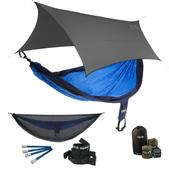 ENO SingleNest OneLink Sleep System - Navy/Royal With Guardian SL & Grey Profly