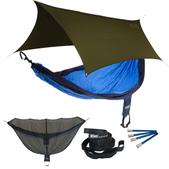 ENO SingleNest OneLink Sleep System - Navy/Royal With Olive Profly