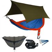 ENO SingleNest OneLink Sleep System - Orange/Sapphire With Olive Profly