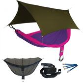 ENO SingleNest OneLink Sleep System - Purple/Fuchsia With Olive Profly