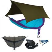 ENO SingleNest OneLink Sleep System - Purple/Teal With Olive Profly