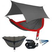 ENO SingleNest OneLink Sleep System - Red/Charcoal With Grey Profly