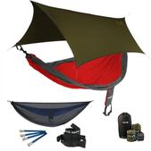 ENO SingleNest OneLink Sleep System - Red/Charcoal With Guardian SL & Olive Profly