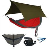 ENO SingleNest OneLink Sleep System - Red/Charcoal With Olive Profly