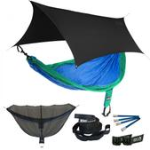 ENO SingleNest OneLink Sleep System - Royal/Emerald With Black Profly