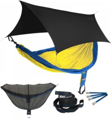 ENO SingleNest OneLink Sleep System - Sapphire/Yellow With Black Profly