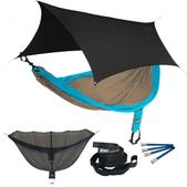 ENO SingleNest OneLink Sleep System - Teal/Khaki With Black Profly
