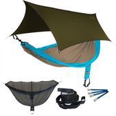 ENO SingleNest OneLink Sleep System - Teal/Khaki With Olive Profly
