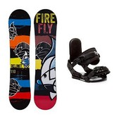 Firefly Delimit Stealth Kids Snowboard and Binding Package