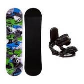 Firefly Explicit PMR Stealth Kids Snowboard and Binding Package