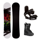 Firefly Jam Blem Squirt Kids Complete Snowboard Package