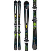 Fischer Hybrid 7.0 Powerrail Skis w/ Rsx 12 Powerrail Bindings Green/Black