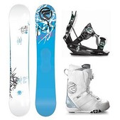 Flow Canvas ABT and Luxe Coiler Womens Complete Snowboard Package