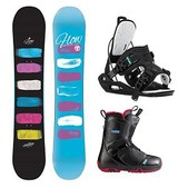 Flow Silhouette Pearl Womens Complete Snowboard Package