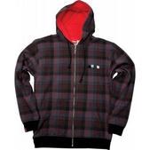 Foursquare Rip Plaid Hoodie Black Rip Plaid