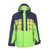 Foursquare Severson Snowboard Jacket Green Light/Lumberjk Pld