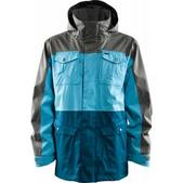 Foursquare Trade Snowboard Jacket Cast Iron/Air/Blue Print