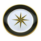 Galleyware Black Compass Salad Plate