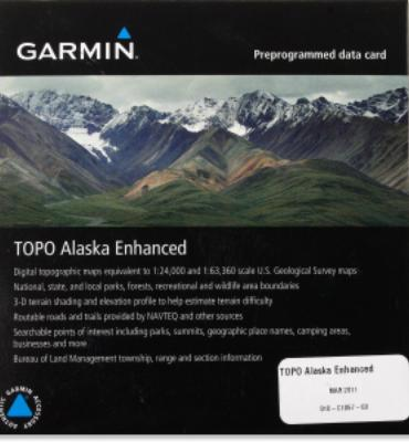 Garmin TOPO Alaska Enhanced microSD Data Card