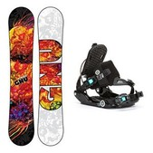 GNU B-Nice BTX Gem SE Womens Snowboard and Binding Package