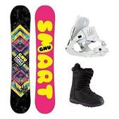 GNU Smart Girl PTX Sapphire Womens Complete Snowboard Package