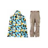 Grenade Army Corps Jacket Blue w/ Sessions Achilles Pants Latte