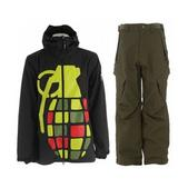 Grenade Exploiter Jacket Rasta w/ Sessions Zoom Pants Fatigue Green