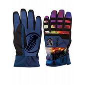 Grenade Fragment Snowboard Gloves Blue