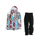 Grenade Sketchnicolor D Jacket White w/ Sessions Achilles Pants Black Magic