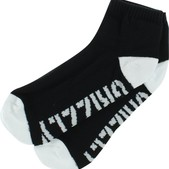 Grizzly Stamp Black / White Lo Cut Socks 1 Pair