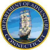 Heartsticker.com Connecticut Department of Adventure Sticker