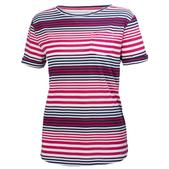 Helly Hansen Women's Naiad Short Sleeve Shirt Magenta Stripe