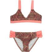 Hurley Basket Weave Triangle & Tab Side Swimsuit - Girls'